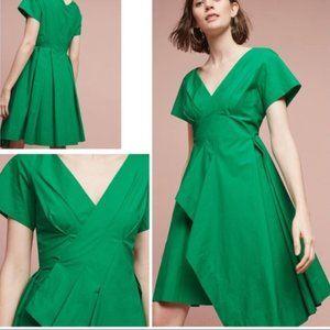 Anthropologie x Maeve Seamed Poplin Dress